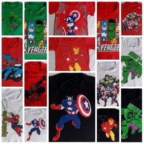 Kit Atacado C/10 Camiseta Infantil Herois Menino Personagens