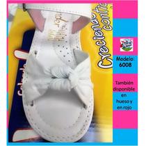 Huaraches Marca Kinder Para Niña 6008 Blanco