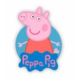 Placa Elipse De Parede Peppa Pig Em Mdf