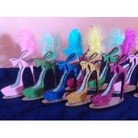 Souvenir Zapato Fibrofacil Brillante 15 Años 50 Mujer Oferta