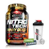 Nitro Tech Gold 999g Muscletech + Brinde Coqueteleira