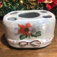 Porta-escova De Porcelana - Natal