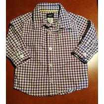 Camisa Carters Para Bebé Niño Talla 12 Meses.