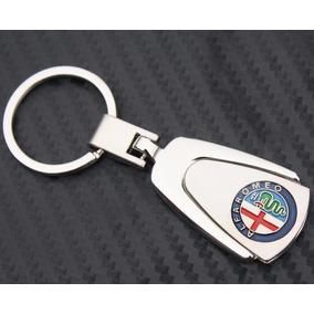 Chaveiro Alfa Romeo Aço Cromado E Prateado Em Lingueta - Top