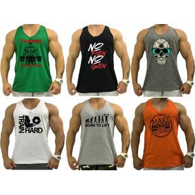 6 Regata Cavada Tank Academia Camisa Camiseta Original Blusa