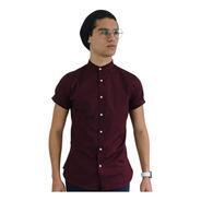 Camisa Manga Corta Stretch En Cuello Mao Marca Chili Beans