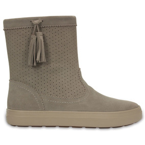 Crocs Originales Lodgepoint Suede Pullon Boot W Beige Mujer