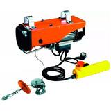 Aparejo Eléctrico 500/1000kg Cable Acero/comando Distancia -