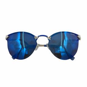 Óculos De Sol Espelhado Feminino Iridia Gato Gatinho Redondo