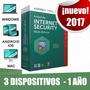 Licencia Kaspersky Internet Security 3 Dispositivos 1 Año
