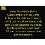 Video Cursos Tutorial En Six Sigma Mejoramiento Continuo