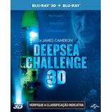 Blu Ray 3d+2d Deepsea Challenge - Duplo, Legendado. C/luva,