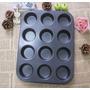 Ofertazo Molde Antiadherente 12 Cupcakes + Capacillos Regalo
