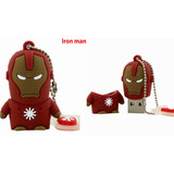 Memoria Usb De 8 Gb, Iron Man, Capitan America