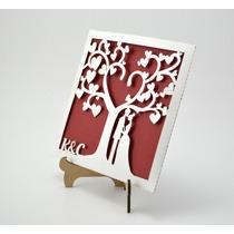 Sobre Invitacion Corte Laser Boda Art328 Blanco Con Rojo
