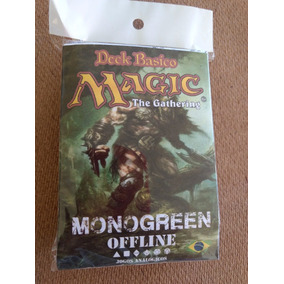 Deck Magic Verde Completo - Português + Manual De Regras