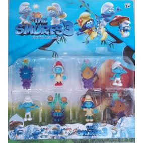 Cartela Smurfs Bonecos Com Acessórios Colecionáveis
