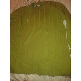 Sweater Verde Con Detalle De Lazo Muy Buen Estado!!!