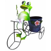 Sapo Bicicleta De Ferro Para Enfeite E Flor Decoraçao Jardim