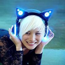 Cat Ear Audifonos Orejas De Gato, Azul - Blakhelmet Nsp