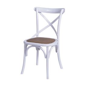 Cadeira Cross Sala De Jantar 55x49x89cm Madeira Branco