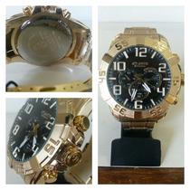 Relógio Original Atlantis Dourado Estilo Technos Legacy