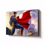 Cuadro De Superman Poster Afiche Sobre Marco De 30 X 20 Cm