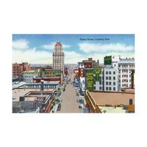 El Paso, Texas, Eastern View Down Texas Street Print, 24 X