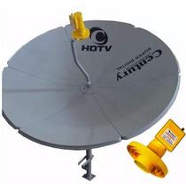 Antena Parabólica Century Chapa 1,30 + Lnbf Super Digital