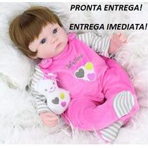 Bebê Reborn Menina Boneca Silicone Alive! Pronta Entrega