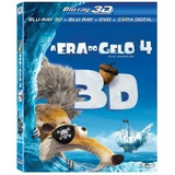 Blu-ray A Era Do Gelo 4 3d (bd 3d + Bd 2d + Dvd + Cópia Dig