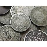 Lote De 10 Monedas 5 Y 10 Centavos Calendario Azteca Niquel
