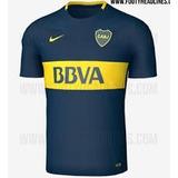 Camisetas Boca Jrs Modelo Nuevo Titular Y Suplente 2017 2018