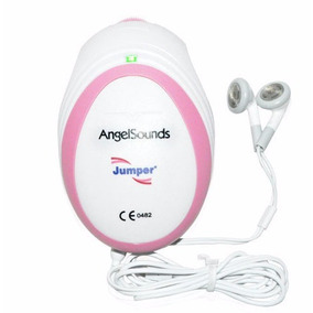 Monitor Fetal Doppler Angel Sounds P/ Ouvir O Bebê/ Rosa