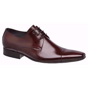 Sapato Social Com Cadarço Bigioni Preto Solado Couro Ref 307