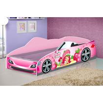 Cama Forma De Carro Star Solteiro / Infantil Rosa Menina