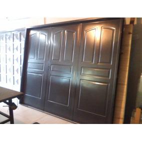 Porton Chapa Inyectada 240x200. Portones Garage Economico