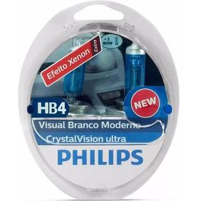 Lâmpada Philips Super Branca Crystal Vision Ultra Hb4 +pingo
