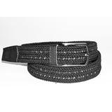 Correa Cinturón Negro Elástico Trenzado (apliques En Cuero) ffdbef07cce1