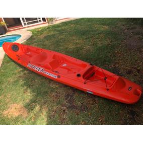 Kayak Rocker Warrior Triplo Usado Con Carrito