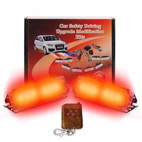 Strobo 2 Farol Oficial Rocam Guincho Car Light Led Vermelho