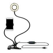 Ring Light Suporte De Mesa Para Celular Iluminador Selfie