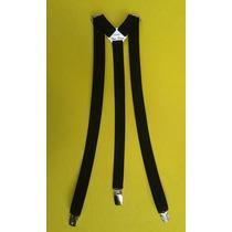 Tirador Pantalón Suspenders Swing Pinza Madison Negro 2cm