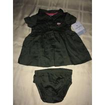 Vestido Verde Militar Con Panty 3 Meses Carter