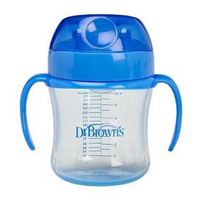 Dr. Browns - Vaso De Transicion Boquilla Suave 180ml Azul