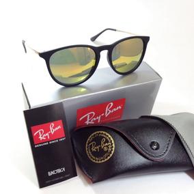 Oculos De Sol Rayban Erika Vermelho Espelhado   Envio 24 Hs fe44699541