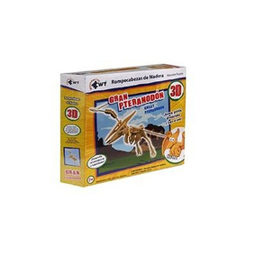 Rompecabezas 3d De Madera Pequeno Gran Pteranodon
