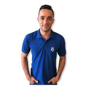 Camisa Polo  Piquet Lobo Masculina  Pm007 Azul Royal