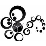 Reloj De Pared Adhesivo, Personalizable. Stock En Dorado.