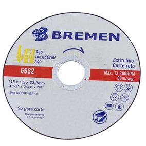 Disco De Corte Extra Fino Para Aço Inoxidável 115 X 1,2 X 22